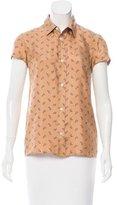 A.P.C. Paisley Print Silk Top