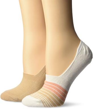 Keds Women's 2 Pack Print Sneaker Liner Socks