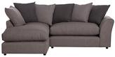 HOME Maisie Regular Left Hand Corner Sofa - Grey