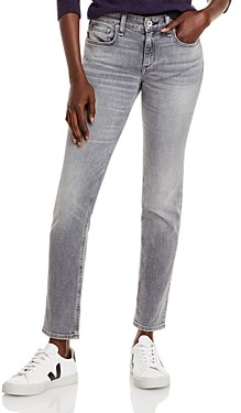 Rag & Bone Dre Low Rise Slim Fit Boyfriend Jeans in Silver Stone
