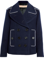 Burberry Double-breasted Wool-blend Coat - Navy