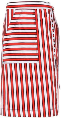 Reinaldo Lourenço Striped Skirt