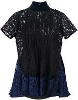 Sacai pintuck lace blouse