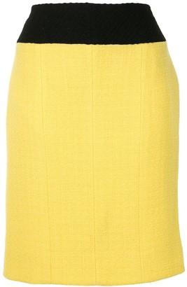 Chanel Pre Owned Bi-Colour Pencil Skirt