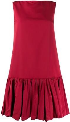 Valentino Peplum Hem Short Dress
