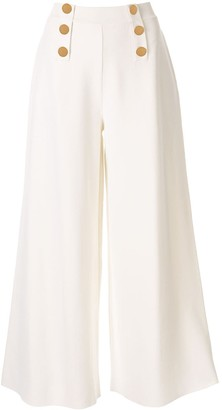 Stella McCartney High-Waisted Wide-Leg Trousers