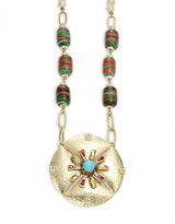 Gerard Yosca Ornate Pearl-Accented Medallion Necklace