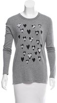 Markus Lupfer Embellish-Accented Crew Neck Sweater