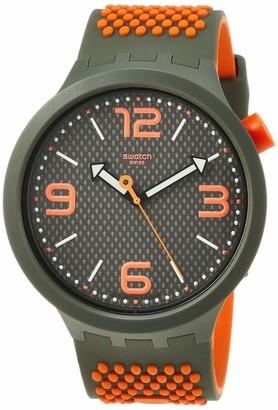 Swatch Men's Quartz Watch with Silicone Strap Grey 23 (Model: SO27M101)
