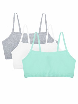 Fruit of the Loom Women's Cotton Pullover Sport Bra (Pack of 3) Blushing Rose Charcoal/Black