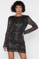 Nasty Gal Womens Oh Damn Sequin Dress - black - 6