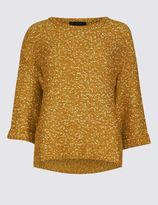 Marks and Spencer Crew Neck 3/4 Sleeve Jumper
