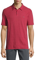 John Varvatos Reverse-Print Jersey Polo Shirt, Dark Red
