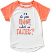 Under Armour Little Girls 2T-6X Do You Have What It Takes Short-Sleeve Graphic Tee