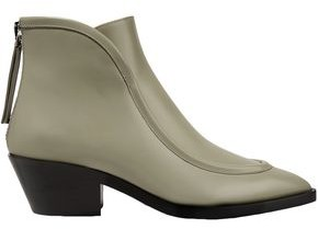 Jil Sander Glossed-leather Ankle Boots