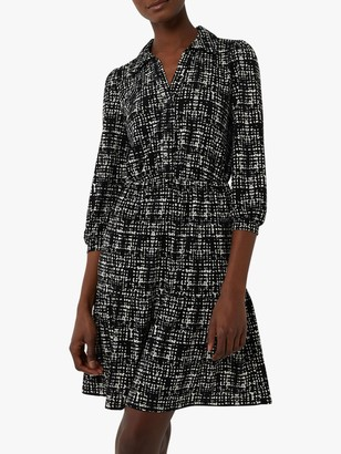 Warehouse Brushed Check Print Shirt Dress, Black