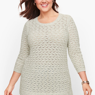 Talbots Textured Linen Blend Sweater - Marled
