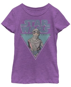 Fifth Sun Star Wars Big Girl's Rey Episode 7 Triangle Force Short Sleeve T-Shirt