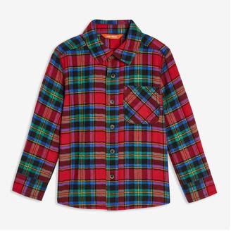 Joe Fresh Toddler Boys' Plaid Flannel Shirt, Dark Red (Size 4)