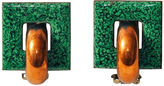One Kings Lane Vintage Renoir Green Copper Earrings