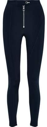 Versace Zip-detailed Stretch Leggings