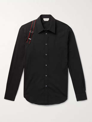 Alexander McQueen Harness-Detailed Stretch Cotton-Poplin Shirt