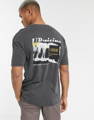Jack and Jones Originals oversized back graphic t-shirt in black