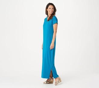 Denim & Co. Textured Knit Scoop Neck Maxi Dress