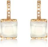 Mia & Beverly Rose Quartz and Diamond 18K Gold Earrings