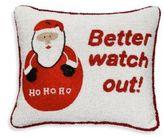 Sudha Pennathur Beaded Velvet Santa Decorative Pillow