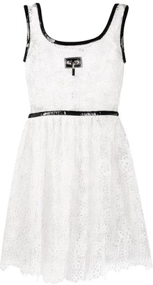 Christopher Kane Broderie Anglaise Padlock Mini Dress