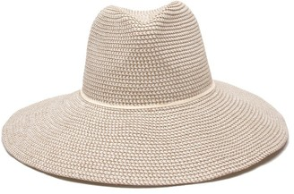 Ale By Alessandra Women's Sancho Adjustable Toyo Hat with Leather Trim