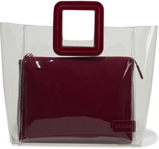 STAUD Shirley Patent Leather-trimmed Pvc Tote