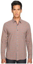 Jack Spade Grant Heather Check Point Collar Men's Clothing