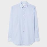 Paul Smith Men's 'Mini-Geometric' Print Shirt With 'Artist Stripe' Cuff Lining