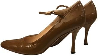 Manolo Blahnik Khaki Patent leather Heels