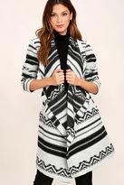 BB Dakota Basin Black and White Print Coat
