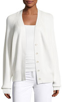 Calvin Klein Collection Cashmere Oversized Raglan Cardigan, White
