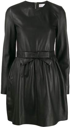 RED Valentino long-sleeved bow embellished dress