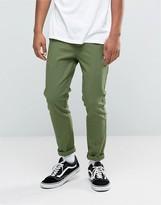 Asos Skinny Pants with Pintucks In Khaki