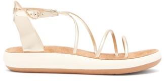 Ancient Greek Sandals Anastasia Metallic Leather Sandals - Womens - Gold