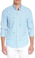 Vineyard Vines Men's Embroidered Seersucker Slim Fit Sport Shirt