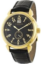 Stuhrling Original Men's 50D.33351 Eternal Sunrise Swiss Quartz Chronograph Black Watch