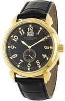 Stuhrling Original Men's 50D.33351 Eternal Sunrise Swiss Quartz Chronograph Black Watch