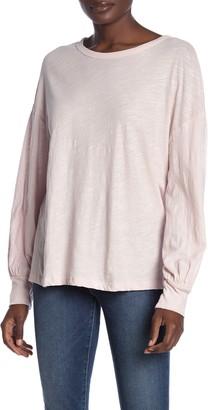 Lush Balloon Sleeve Knit Shirt