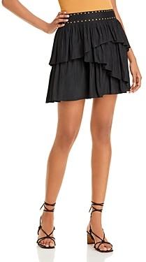 Ramy Brook Virginia Asymmetric Tiered Mini Skirt
