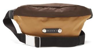 Marni Bi-colour Nylon Belt Bag - Beige Multi
