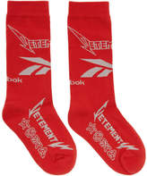 Vetements Red Reebok Classics Edition Metal Socks