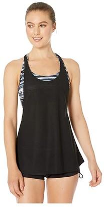 TYR Innoko Harper 2-in-1 Tank (Black/Grey) Women's Swimwear