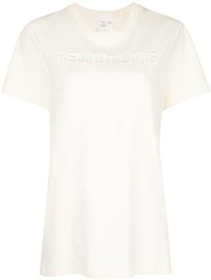 Helmut Lang embroidered logo t-shirt